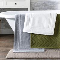酒店地巾家用加厚纯棉浴室防滑脚垫卫生间地垫全棉吸水可机洗地毯