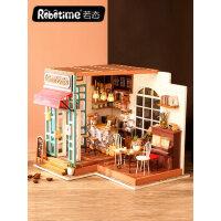 若态diy小屋创意拼装小房子模型手工制作女生成人七夕情人节礼物