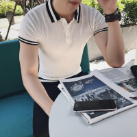 2018夏季polo衫男短袖t恤翻领潮流保罗修身韩版纯棉休闲帅气体恤