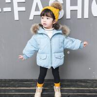 女宝宝棉衣冬装外套0一1-2-3岁韩版潮衣儿童洋气女童冬季保暖