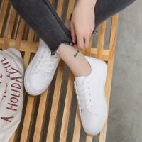 小白鞋女春季2018新款韩版百搭学生平底休闲板鞋秋季女鞋chic鞋子