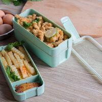 日式三层带盖饭盒学生多层可微波炉加热餐盒儿童分格便当盒水果盒