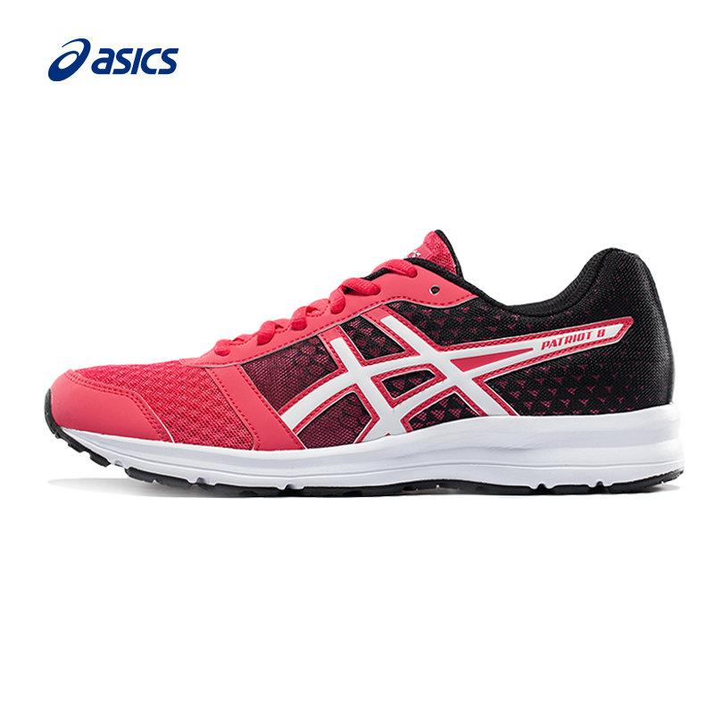 新款ASICS/亚瑟士舒适透气缓冲跑鞋跑步鞋PATRIOT 8女T669N-1901入门缓冲跑步鞋