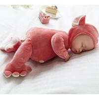 仿真婴儿睡眠娃娃毛绒洋娃娃娃安抚陪睡软胶布娃娃宝宝玩具