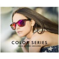 大框时尚眼镜旅行炫彩膜太阳镜 开车防UV 偏光时尚墨镜男女 彩色框系列
