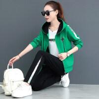 韩版宽松女运动服修身卫衣三件套休闲装女套装