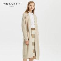 【2件1.5折价:149.9,可叠券】羊毛MECITY女装秋季中长款针织开衫外套女