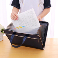 多层A4文件夹风琴包办公学生用试卷收纳袋帆布文件包文件袋定制