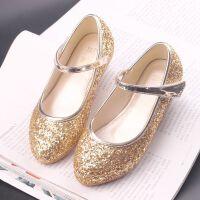 女童皮鞋儿童公主单鞋女演出鞋花童公主银色水晶女童鞋公主鞋春秋