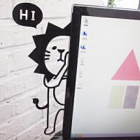 创意文具电脑侧边留言板便利贴板韩国显示器屏幕办公用品便签贴板