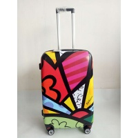 24寸行李拉杆箱个性印花涂鸦豹纹潮流万向轮托运行李箱学生旅行箱