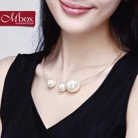新年礼物Mbox项链 女韩国版波西米亚风时尚贝珍珠锁骨项链颈链 云中Angel