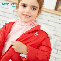 【2件2折】巴拉巴拉旗下马卡乐女童冬卡通短款羽绒服白鸭绒外套