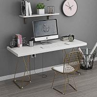 北欧家用台式电脑桌简约笔记本卧室书桌椅实木写字台创意办公桌子