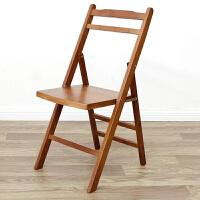 实木便携可折叠椅子 简易家用省空间竹椅 户外躺椅靠背电脑午休椅 楠竹茶色折叠椅