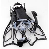 近视潜水镜 浮浅脚蹼 浮潜装备潜水三宝 全干式呼吸管硅胶