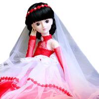 女孩公主洋娃娃叶罗丽仙子定制苏珊珍妮梦幻新娘婚纱套装