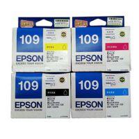 爱普生(Epson)T1091黑色墨盒T1093 洋红色 T1092 青色 T1094 黄色 彩色墨盒套装 适用爱普生