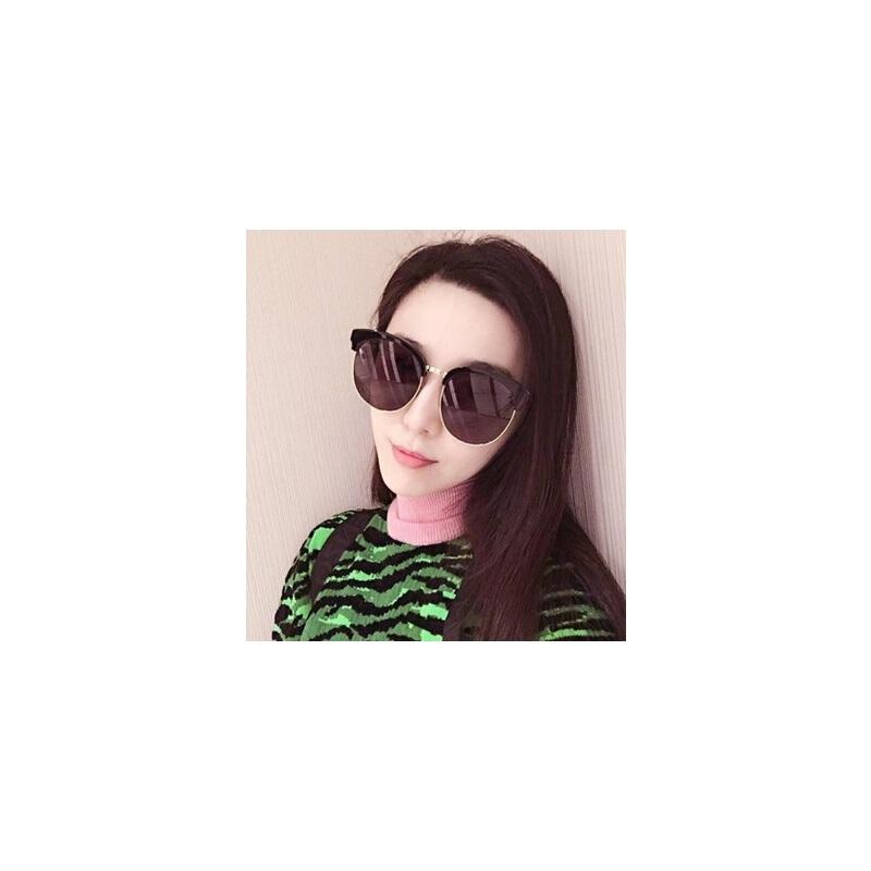 韩版潮流圆框太阳镜时尚炫彩墨镜951 男士眼镜明星款复古太阳眼镜