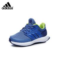 阿迪达斯Adidas童鞋2018新款儿童运动鞋小中大童跑步鞋透气防滑男童户外休闲鞋 (5-15岁可选) CQ0153