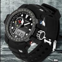 三达表热销高档多功能三针双显冷光电子表防户外登山运动礼品手表