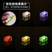 电子积木透明发光件led发光砖发光零件灯拼装闪光配件玩具批发