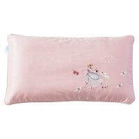 60支贡缎刺绣儿童枕套纯色可爱卡通枕头套夏季单人枕芯套 可爱的公主(淡丁香豆沙) 枕套一只