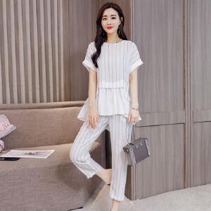 风轩衣度 套装/套裙2018年夏季休闲时尚都市青春流行百搭修身显瘦气质个性 2365-826