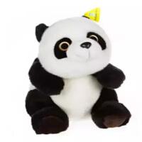 正版熊猫功夫熊猫毛绒玩具仿真熊猫公仔儿童生日礼物女熊猫 白色加黑色
