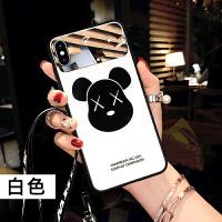 苹果6splus手机壳iphone6s硅胶7保护套挂绳女款8plus网红潮牌镜面 6/6S (4.7)-X头白底