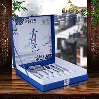 中国风青花瓷餐具陶 礼盒外事礼品送外国人特色礼物筷子四件套装