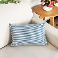 北欧客厅沙发靠垫抱枕田园长方形腰枕床上床头靠枕套子可拆洗家用 45*45cm(抱枕套+枕芯)