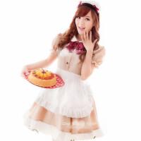 咖啡色女仆装餐厅服务员服侍女服装 COS日本动漫服装女佣装演出服