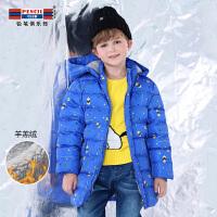 铅笔俱乐部童装2018冬装新款男童加厚棉衣中大童棉服儿童加厚外套