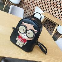 小熊双肩包女新款韩版夏季学生书包学院风小清新百搭旅行背包