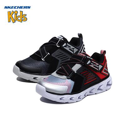 斯凯奇童鞋 (SKECHERS)儿童鞋 男童Z型搭带闪灯鞋 运动型 舒适休闲鞋 闪光鞋(4岁—12岁以上)斯凯奇秋季新款,闪灯鞋
