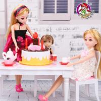 乐吉儿芭比娃娃公主套装大礼盒 过家家生日派对儿童女孩玩具礼 生日蛋糕 模拟生日会 亲子玩具 早教娃娃