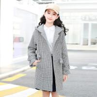 女大童冬装毛呢外套2018新款12-13-15岁女童洋气呢子大衣加厚女孩