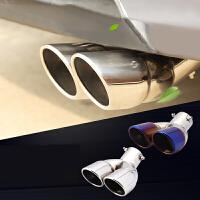 波罗新捷达桑塔纳宝来速腾1.6改装汽车排气管改双出口一出二尾喉