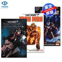 英文原版 托尼史塔克钢铁侠漫画合集3册套装 Tony Stark: Iron Man Vol. 1 2 3 #1-#6-
