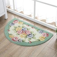 玫瑰剪花半圆地垫家用卧室门垫厨房脚垫子卫生间门口吸水防滑地垫