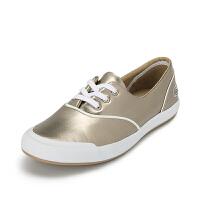 Lacoste法国鳄鱼女鞋时尚百搭玫瑰金休闲鞋 7-32SPW0120专柜正品