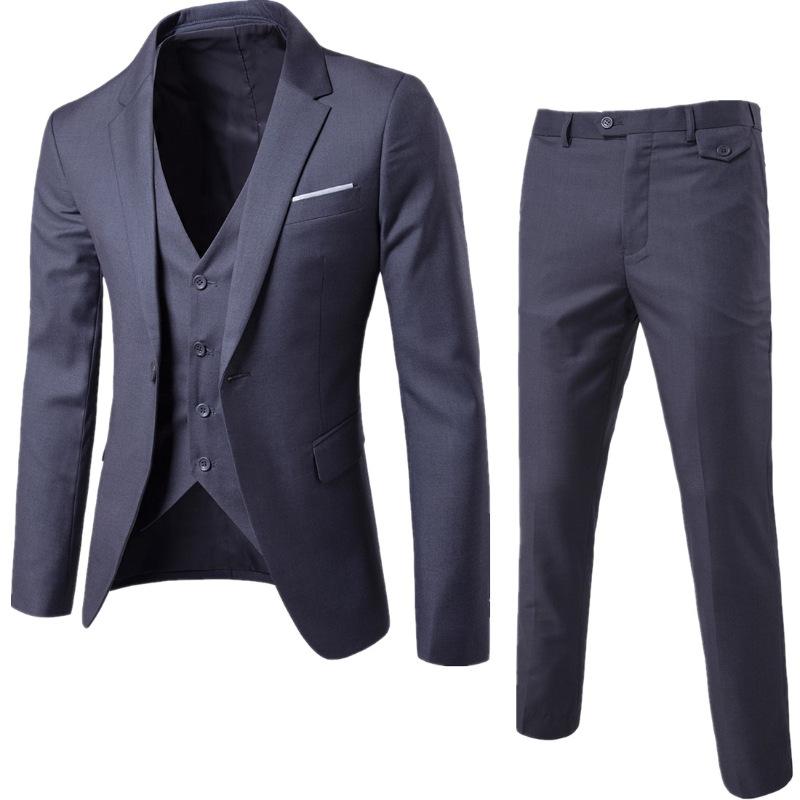 男士休闲商务西服套装加肥加大码新郎结婚宴会礼服修身西装三件套 发货周期:一般在付款后2-90天左右发货,具体发货时间请以与客服协商的时间为准