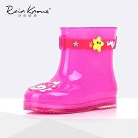 立体卡通动物宝宝儿童雨靴 男女宝婴儿雨鞋环保安全 24 脚长13.1cm /13#