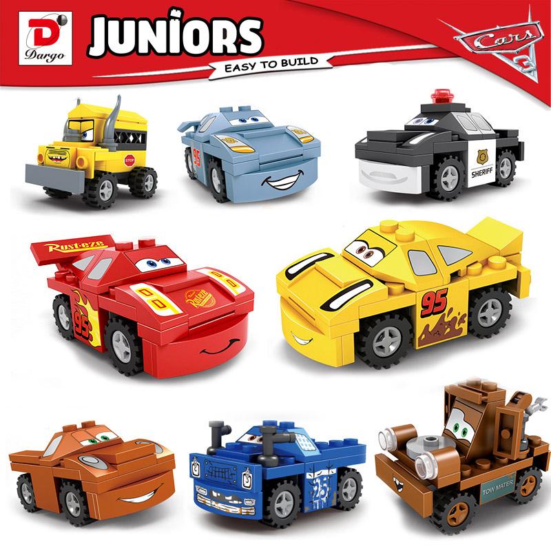 百变汽车总动员闪电麦昆男孩拼装积木兼容乐高赛车总动员积木玩具
