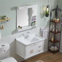 欧式浴室柜组合简约小户型卫浴洗漱台pvc挂墙式浴柜卫生间洗脸盆