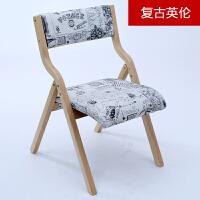 椅子 家用靠背椅休闲实木折叠餐椅 宿舍简易办公宿舍椅子电脑椅