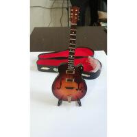 ?迷你乐器模型LP吉他电箱吉他模型家居摆设摆件电吉它背带木吉他盒 图片色 18CM送皮盒和支架 图片色