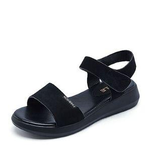 Belle/百丽夏季专柜同款牛剖层皮女休闲凉鞋R5L1DBL7