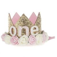 儿童发饰头饰皇冠宝宝发带头花男女婴儿生日派对表演头饰公主帽子